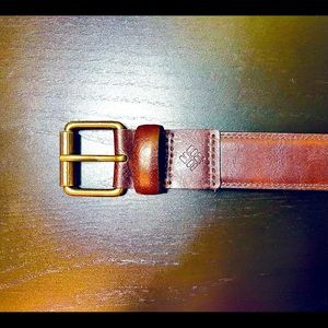 Columbia Mens Belt Size 34 Brown Manmade Leather